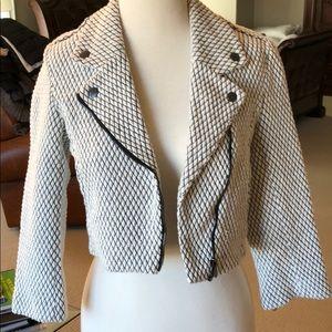 Top Shop crop moto jacket in size 4